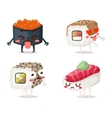 Sushi character isolated vector image vector image
