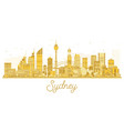 sydney city skyline golden silhouette vector image vector image