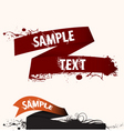 text frame ribbon vector image