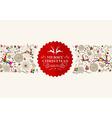 Vintage Christmas reindeer greeting card vector image vector image