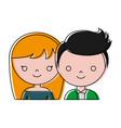 wedding couple icon vector image vector image
