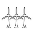 wind turbine eco station icon outline style vector image vector image