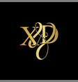 xd x d logo initial mark vector image vector image