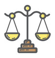 libra filled outline icon business and finance vector image