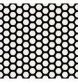 Seamless Black and White Rounded Hexagon vector image
