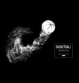 abstract silhouette of a basketball ball vector image vector image