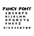 alphabet fancy font design element eps10 vector image