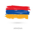 armenia colorful brush strokes painted national vector image vector image