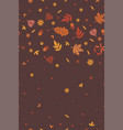 autumn seamless pattern with leaves graphics vector image vector image