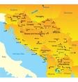 Balkan map vector image vector image