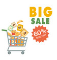 big sale 60 discount cart background image vector image