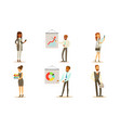 business people working in office set male and vector image vector image