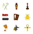 cairo travel icons set cartoon style vector image