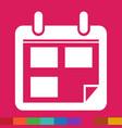 calendar icon sign design style vector image vector image