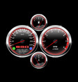car dashboard speedometer tachometer fuel and vector image vector image