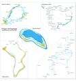 Chagos Archipelago map vector image vector image