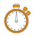 chronometer flat vector image