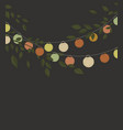 colored lantern chain vector image vector image