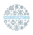 consulting round in thin line vector image