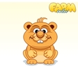 Cute Cartoon Hamster vector image