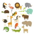 Cute Woodland and Jungle Animals Set vector image