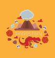 dinosaur tyrannosaurus rex cartoon vector image