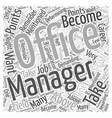Do You Have What It Takes to Become an Office vector image vector image