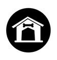 dog home icon design vector image