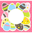 Easter eggs pattern on a pink vector image vector image