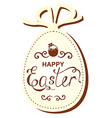 easter gift vector image vector image