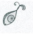 eye shaped fish vector image vector image