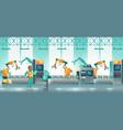 factory robotized production line cartoon vector image vector image