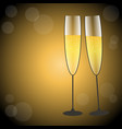festive glasses of champagne in gold and black vector image vector image