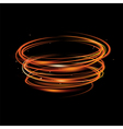 fire light blurry circles at motion swirl trail vector image vector image