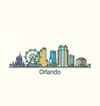 flat line orlando banner vector image vector image