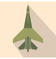 Flying jet fighter flat icon vector image vector image