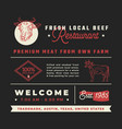 fresh local beef restaurant signs titles vector image vector image