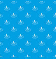 gmo free product pattern seamless blue vector image vector image