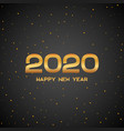 happy new year 2020 luxury golden poster vip gold vector image vector image