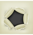 hole in paper vector image vector image