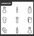 laboratory outline isometric icons vector image vector image