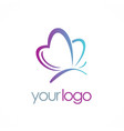 love butterfly beauty logo vector image