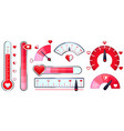 love meter valentines day card love indicator vector image vector image