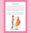 makeup poster with stylist make fashion maquillage vector image