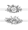medieval drawing banners vector image