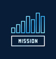 mission bar chart creative outline icon vector image vector image