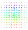 money tree icon halftone spectral effect vector image