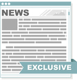 Newspaper interface screen vector image