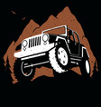 off-road mountain vector image