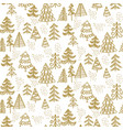 one color christmas tree hand drawn vector image